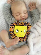 "NEW REBORN DOLL BABY BOY BEN FAKE BABIES REALISTIC 22"" BIG NEWBORN PAINTED HAIR"