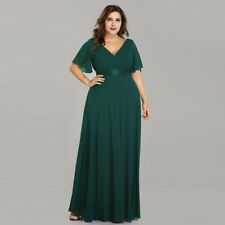 1c5415ec593 Ever-Pretty Long One Shoulder Chiffon Wedding Formal Evening Party Dress  09890 Dark Green 12