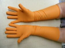 UNLINED LONG RUBBER / LATEX GLOVES