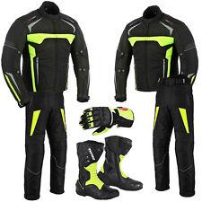 Brand New Motorbike Motorcycle Suit Cordura Waterproof Jacket Pant Leather Shoes