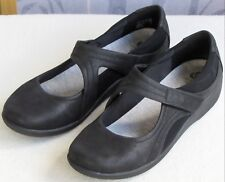 10 | Clarks Cloudsteppers Sillian Bella Black Textile Mary Jane Flat Shoe
