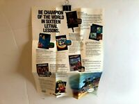 Konami KON-NES-US-3 NES POSTER Fold-Out INSERT ONLY Authentic TORN