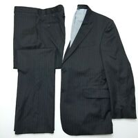 Tommy Hilfiger 2 Pc suit - Charcoal Gray Pinstriped - Flat Front - 44R 38x32