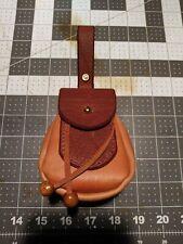 Leather sporran game bag/cosplay belt bag/dungeons & dragons Dice bag/bushcraft