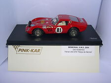 PINK KAR FERRARI 250 GTO  II MEMORIAL X.M.D. 2004 OF DRIVER   LTED.ED. MB