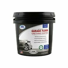 Garage Floor Urethane Coating Clear High Gloss & Slip Resist 3.2 oz bag-1 Gal...