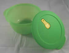 Tupperware microtup Crystal Wave Micro-Ondes Vaisselle 2,0 l rond vert nouveau neuf dans sa boîte