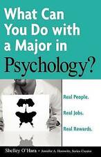 Real People, Real Jobs, Real Rewards: What Can You Do with a Major in psychology