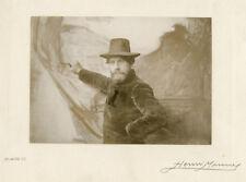 Photo Henri Manuel Argentique Portrait d'Homme Artiste Vers 1900