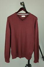 PIER ONE Men's ~XL-XXL Wine Cotton V Neck Sweater / Pullover RCS11003