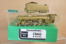 OVERLAND MODELS BRASS BURLINGTON CB&Q 4-8-2 CLASS B-1A LOCOMOTIVE BOXED np