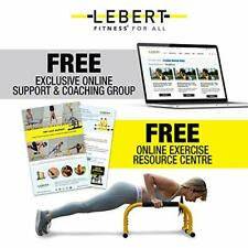 Lebert Fitness Parallette Push Up Bars Dip Station Stand - Gymnastics - Yellow