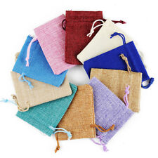 """Pack of 4 Burlap Bags 7.9""""x11.8"""" Wedding Party Gift Bag Drawstring Pouches"""