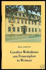 Ehrlich, Willi; Goethes Wohnhaus am Frauenplan in Weimar, 1987