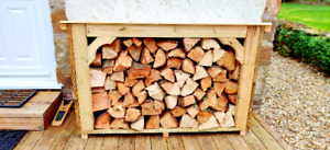 Beautiful Quality Wood Store - Small Log Store - Outdoor Log Storage - Log Shed