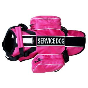BACKPACK Service Dog Harness Removable Saddle Bag vest & Patch THERAPY SECURITY
