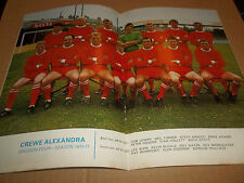 FOOTBALL LEAGUE REVIEW ~ NUMMBER 503 ( 1971 ) CREWE ALEXANDRA IN CENTRE PAGE
