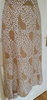 LADIES MARK AND SPENCER NATURAL MIX A-LINE LINED  MIDI SKIRT SIZE 22 Reg BNWT