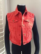 GALLIANO ORANGE DENIM DENIM VEST - NWT SIZE IT 40 / US 6