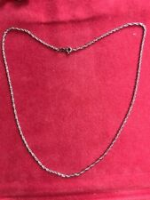 """14Kt White Gold 16"""" Rope Chain at BELOW intrinsic Gold value !!"""
