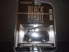 Greenlight Volkswagen Type 2 Westfalia Campmobile 73 Black and Bandit 1/64 27790