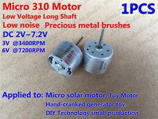 Micro Mini  310 Solar Motor  DC 1.5V 3V 6V 7200RPM Mute Long Shaft for Toy DIY