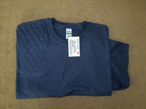 XL Right Hand Trap/Skeet Pad NAVY BLUE S/S Cotton Shooting T-Shirt