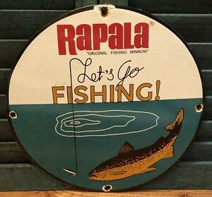 VINTAGE RAPALA FISHING LURES PORCELAIN BAIT FISH TACKLE ADVERTISE SIGN