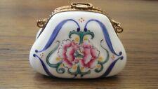 *Sale*Sale*Limoges Floral Purse Trinket box, Vintage, hand painted from France