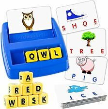 Little Treasures Matching Letter Game, Teaches Word Recognition, Spelling,Neww