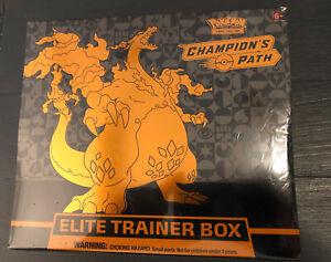 Pokemon TCG Champion's Path Elite Trainer Box Dark Charizard V VMAX Pikachu GX