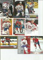 1990-2005 MONTREAL CANADIENS HOCKEY 250+ CARD LOT NO DUPS