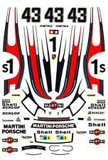 #43 Martini Porsche 935 1978 1/64th HO Scale Slot Car Waterslide Decals
