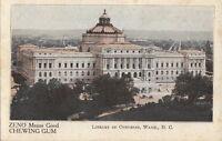Postcard Advertising Zeno Chewing Gum Library Congress Washington DC