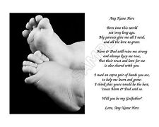 Will You Be My Godfather Personalized Art Poem Gift