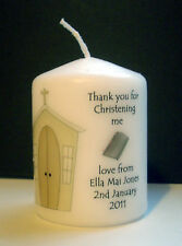 personalised vicar priest father baptism christening candle thank you gift