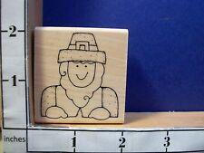 PILGRIM MAN THANKSGIVING JRL rubber stamp 14V