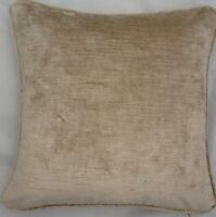 A 20 Inch Cushion Cover In Laura Ashley Villandry Champagne Velvet Fabric