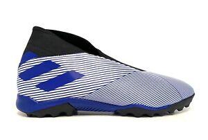 Adidas Nemeziz LL 19.3 TF Laceless Turf Soccer Shoes Blue White EG7252 Size 13