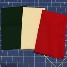 Pre-Cut Cotton Fabric in Half Yard Cuts - Red Green & White on White