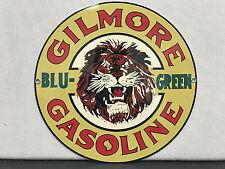 Gilmore gasoline vintage advertising sign oil gas round metal