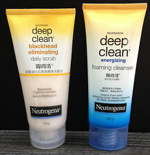 2x 100g NEUTROGENA Gentle Scrub/Energizing Foaming Cleanser Deep Clean Anti Acne