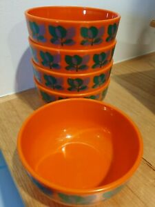 Vintage Retro Emsa West German Acrylic Salad Bowls Serving Bowl Set of 6