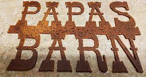 Metal Papas Barn Sign/Farm/Ranch