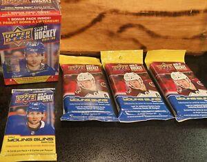 🔥Upper Deck NHL Ice Hockey Blaster Box+Fat Packs+Retail Pack LOT OF 5