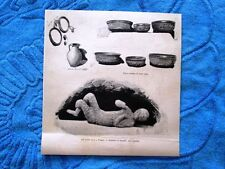 Gli ultimi scavi a Pompei: Scheletro di fanciullo-Vasi e scodelle in terra cotta