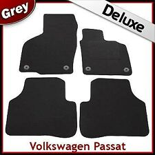 VW Passat B6 B7 2005-2015 Round Clips Tailored LUXURY 1300g Carpet Car Mats GREY