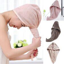 Hair Towel Twist Dry Shower Microfiber Drying Bath Spa Head Cap Hat Turban Women
