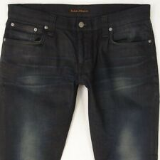 Mens Nudie LONG JOHN Stretch Slim Skinny Blue Jeans W34 L34