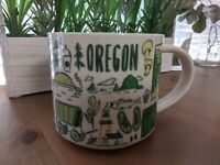 Starbucks Been There Series Oregon Mug Dated 2017 14 Oz Coffee Cup